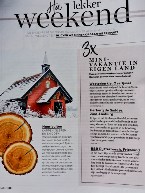 Westerkerkje in libelle feb 2019Ui t